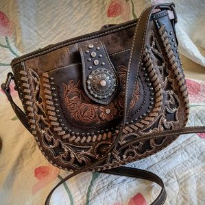 Montana West Faux Leather Crossbody Bag